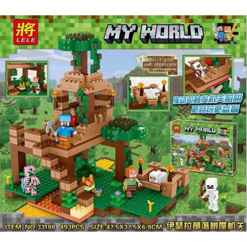 Купить Конструктор Lele 33198 Штаб в лесу Minecraft