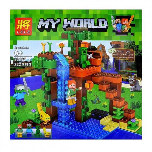 Купить Конструктор Lele 33197 У водопада Minecraft