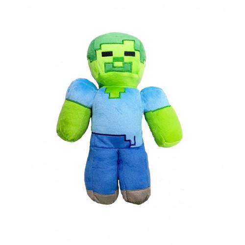 Купить Плюшевая игрушка, Большая мягкая игрушка Зомби Майнкрафт, 30 см (Plush toy Zombi Minecraft), Jinx