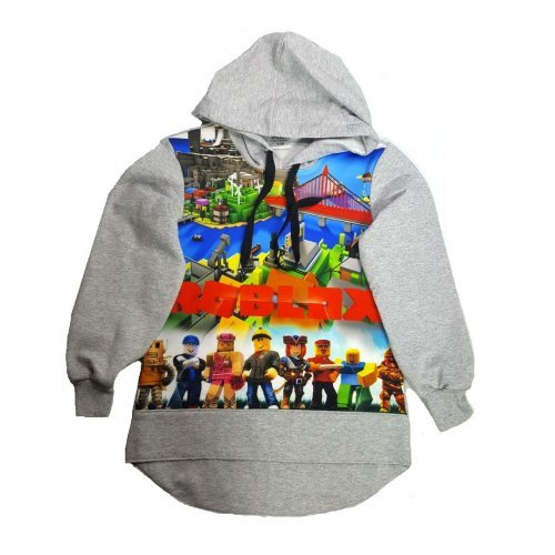 Свитшот с карманом кенгуру Roblox City (с капюшоном)