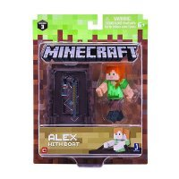 "Фигурка Minecraft ""Алекс на лодке"" Alex with Boat  (Jazwares)"