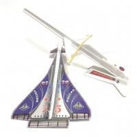 """Летающая модель самолёта """"Дельта"""" с катапультой"""