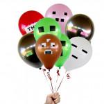 Воздушные шары Майнкрафт 25 см в ассортименте (Minecraft)