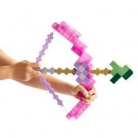 Зачарованный пиксельный лук со стрелой из Майнкрафт