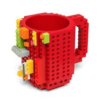Кружка Build-on Brick красная 350 мл