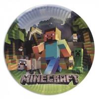 """Бумажные тарелки Minecraft """"Стив с киркой"""" - 10 шт."""