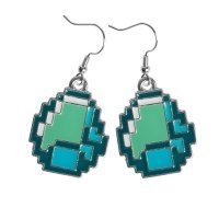 "Серьги ""Алмаз"" (Minecraft Diamond Earrings)"