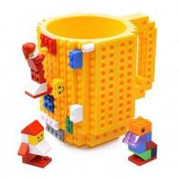 Кружка Build-on Brick желтая 350 мл