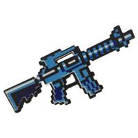 Пиксельный автомат M4 Майнкрафт 38 см (синий)