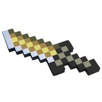 Золотой кинжал 8Бит Майнкрафт (25см)