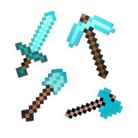 Набор алмазных инструментов (меч, кирка, топор, лопата)