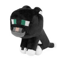 """Мягкая игрушка Minecraft """"Дымчатый кот"""" (Tuxedo Cat) 23см"""