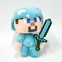 """Мягкая игрушка Minecraft """"Стив в алмазной броне"""", 17 см"""